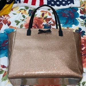 Sparkly pink Kate spade tote